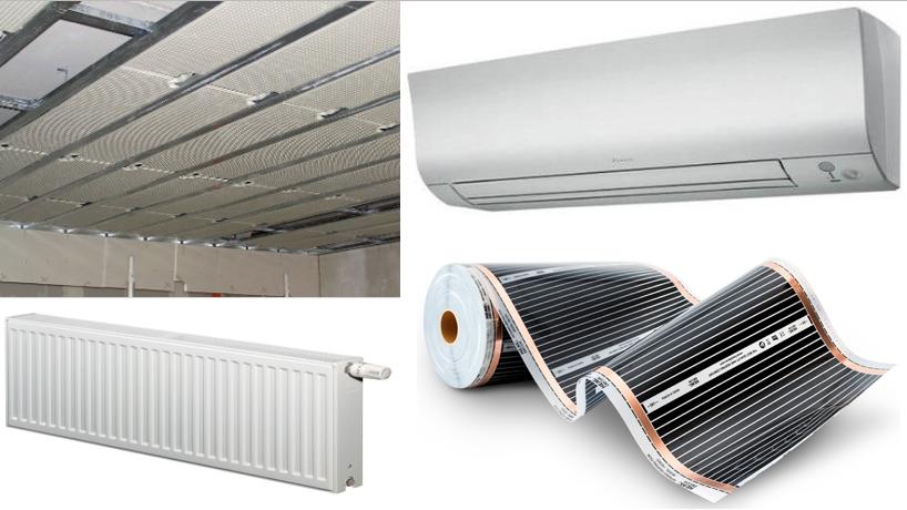 Klíma - stropné chladenie - radiator - folie
